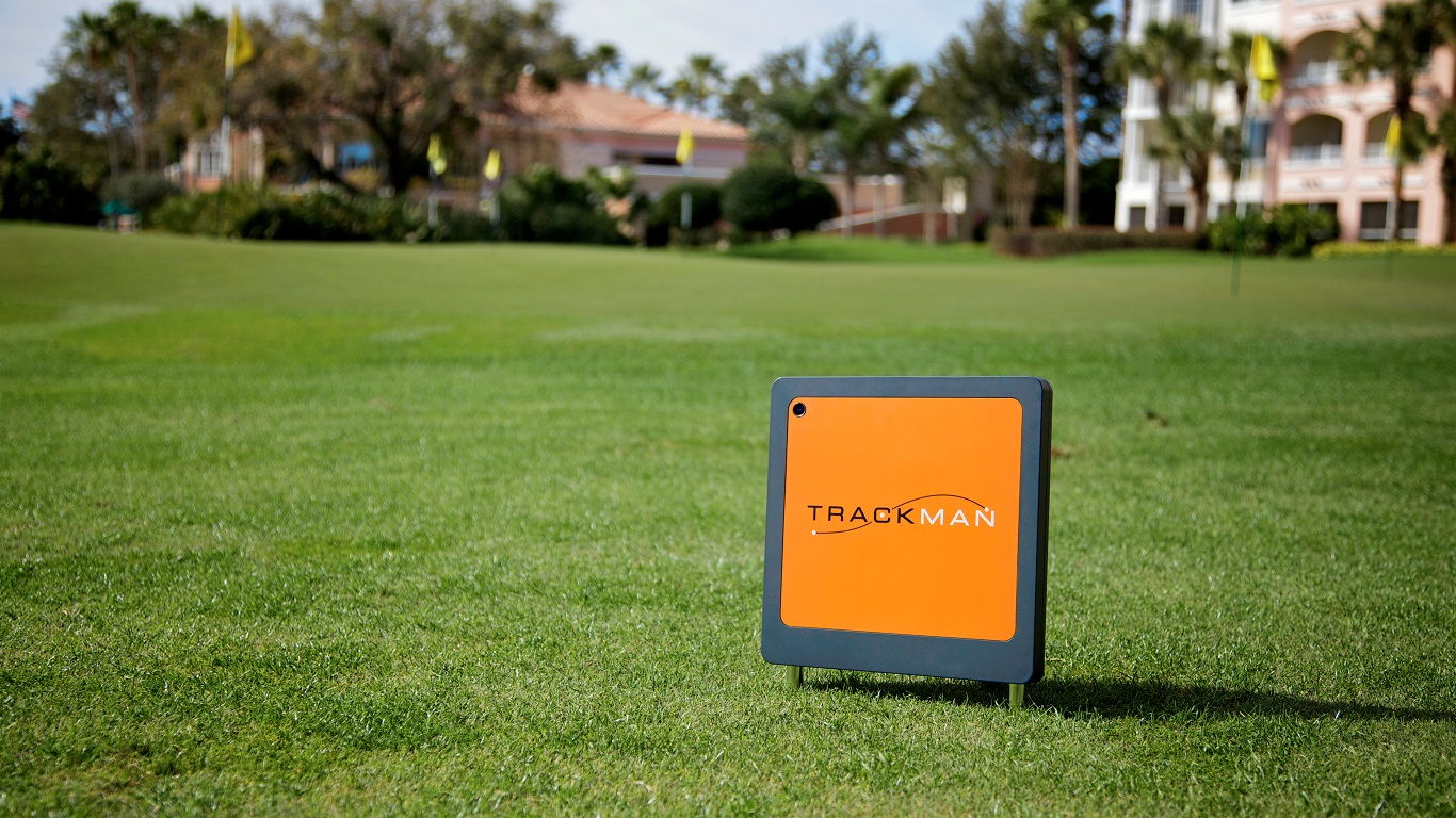 TrackMan Pro device on display